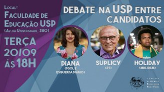 Debate entre candidatos na USP: Suplicy, Diana e Fernando Holiday