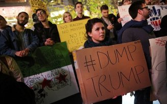 Mulheres marcham contra Trump