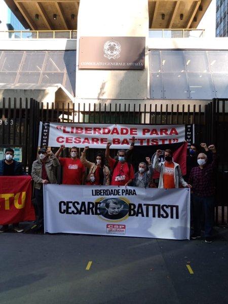 Em SP: Ato em solidariedade a Cesare Battisti, preso político italiano