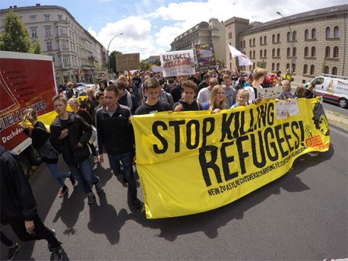 Greve estudantil contra o racismo e a guerra na Alemanha