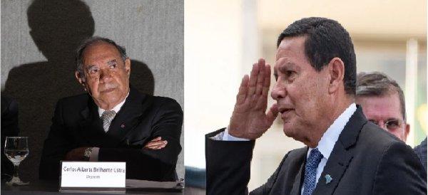 """Mourão insiste em defender seus pares torturadores: """"Ustra respeitava direitos humanos"""""""