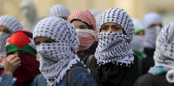 Mulheres palestinas na linha de frente contra a ocupação de Israel