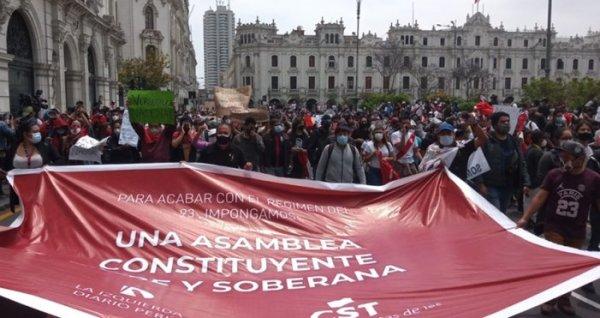 Peru: para acabar com o regime de exploração capitalista, impor uma Assembleia Constituinte Livre e Soberana