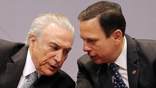 Doria escala boa parte do governo Temer para integrar secretarias de São Paulo
