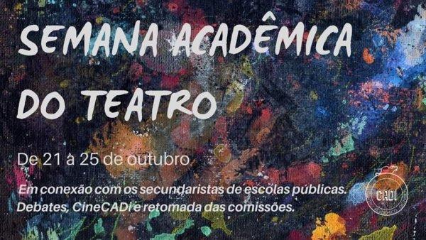 Equador, Slam, Educação pública no RS. Confira a Semana Acadêmica do Teatro da UFRGS