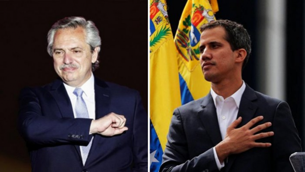 A direita venezuelana e Estados Unidos agradecem o apoio de Alberto Fernández