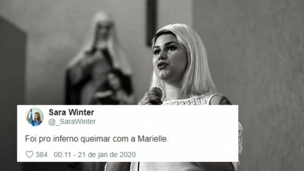 "Sara Winter, tiete de Bolsonaro, ataca Marielle nas redes: ""foi queimar no inferno"""