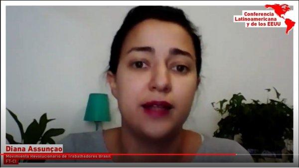 Confira a intervenção de Diana Assunção do MRT na sessão de encerramento da Conferência Latino-americana e dos EUA