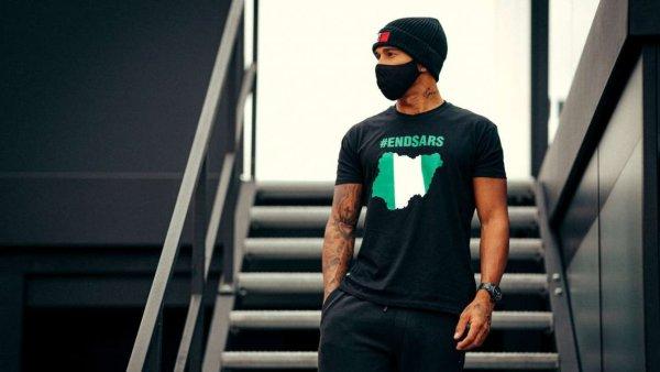 #EndSars: Em dia de recorde histórico, Hamilton apoia manifestações na Nigéria contra a violência policial