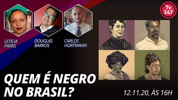 """Letícia Parks participará hoje às 16h de debate na TV247: """"Quem é negro no Brasil?"""""""