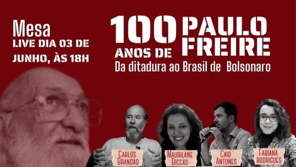 Centro Acadêmico da FEUSP chama mesa sobre o legado de Paulo Freire no Brasil de Bolsonaro