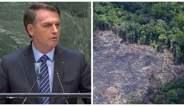 """Bolsonaro debocha dos recordes de desmatamento em seu governo: """"Amazônia não pega fogo"""""""
