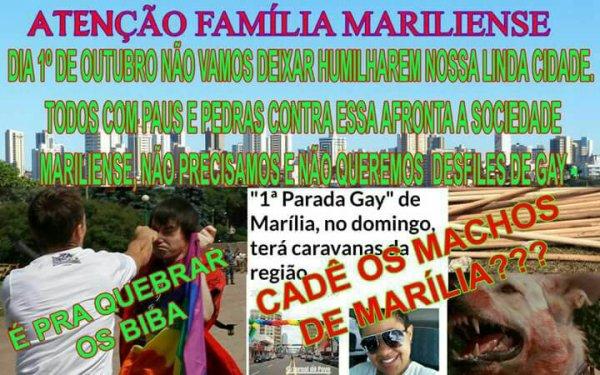 Pastores se organizam para inibir LGBTs na primeira parada da diversidade em Marília