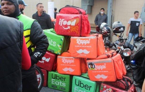 Empresas de aplicativo aplicam retaliação à greve feita pelos entregadores no 1º de julho