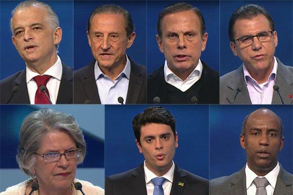 Disputas entre os candidatos golpistas dão o tom no debate de governadores em SP
