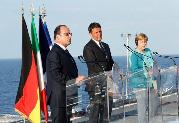 Merkel, Hollande e Renzi debatem uma estratégia frente ao Brexit