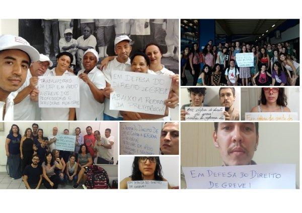 Trabalhadores e estudantes se solidarizam com professores em greve