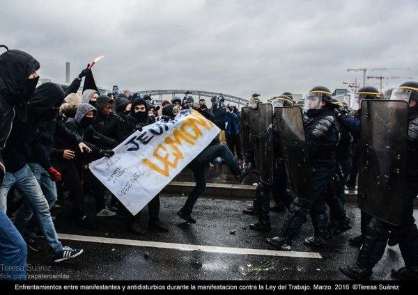 Os estudantes secundaristas franceses protagonizaram o dia de greve geral