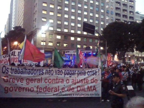 Universidades Federais em greve se manifestam no centro do Rio