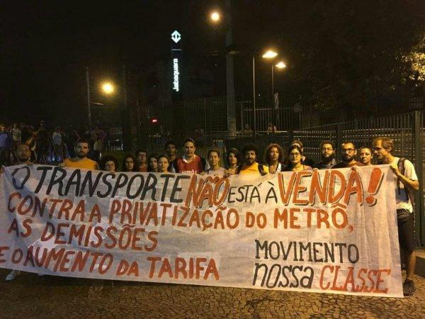 Liberar as catracas do Metrô contra a privatização e em apoio aos professores!