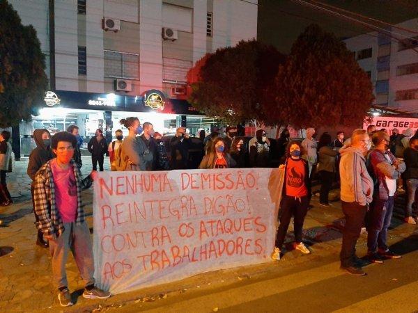 Rodoviários da Tinga paralisam pela readmissão do Digão e contra os ataques da patronal