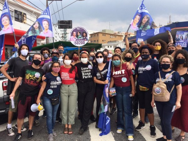 Centenas de ativistas tomam as ruas na reta final da campanha da Bancada Revolucionária