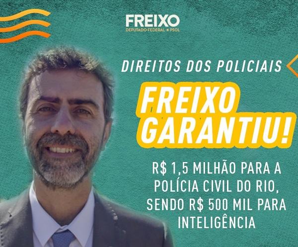 """Marcelo Freixo e sua vergonhosa """"luta"""" por mais verbas para a polícia"""