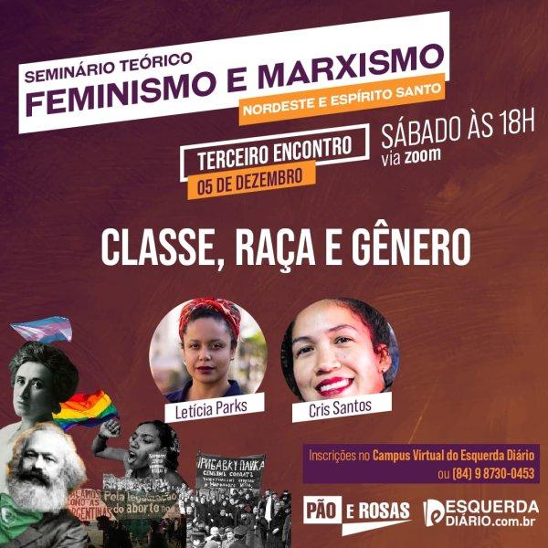 """05/12: Letícia Parks e Cris Santos debaterão """"Classe, raça e gênero"""" em Seminário do Nordeste e ES"""